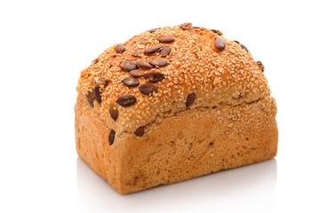 Brot Brotlaib mit Sesamsamen und Kürbiskernen