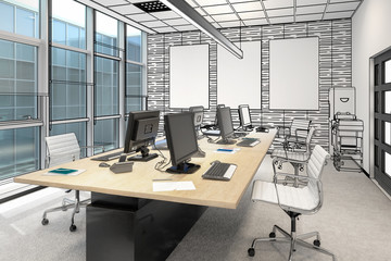 Common Computer Workplace Design (preview) - 3d visualization