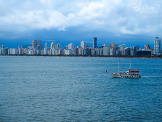 Beautyful Sea Coast Skyline Santos - Latin America