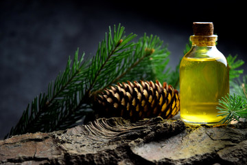 Spruce natural oil aromatherapy