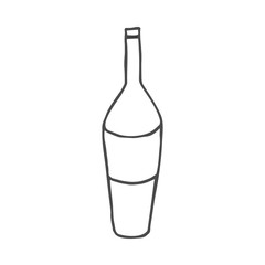 Wine doodle icon. Vector illustration isolated on white background.