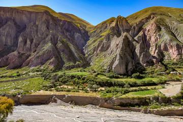 Landscape view of a little village of Iruya, Argentina