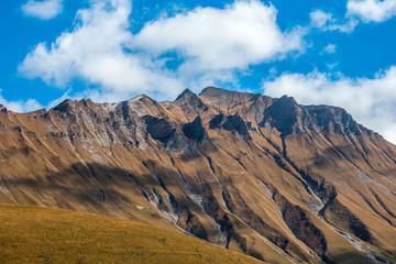 Beautifull mountains of caucasus in Dariali Gorge, Georgia