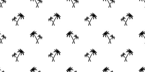 palm tree coconut tree Seamless Pattern vector scarf isolated island tile background repeat wallpaper tropical summer illustration doodle