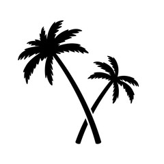 palm tree coconut tree vector icon island logo ocean summer tropical character illustration symbol graphic