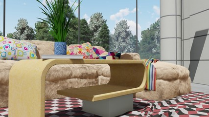 Modern looking interior