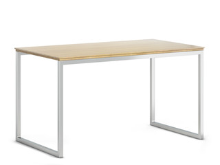 Minimalistic modern table with metallic legs