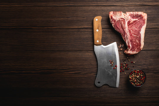 T-bone and meat cleaver