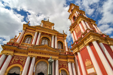 View on the Saint Francis church in Salta, Argentina