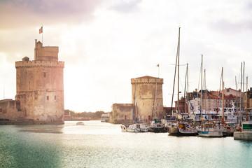 Gates to marina harbor in La Rochelle downtown