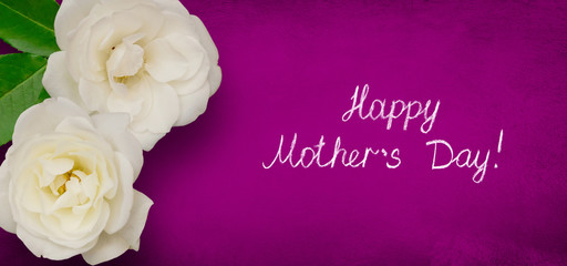 Wide Angle greeting card Happy Mothers Day