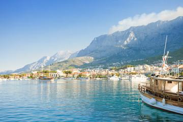Makarska, Dalmatia, Croatia - Setting sail from the harbor of Makarska