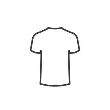 T-shirt line style icon. Vector.