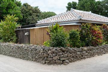 竹富島の町並み