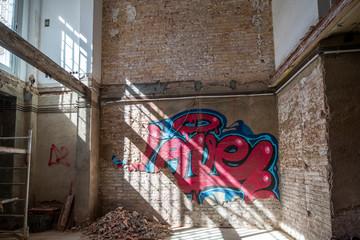 graffiti of word love on a wall