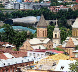 Beautiful view of the city of Tbilisi