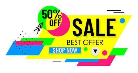 Modern Shoping Banner. Sale. Best Offer