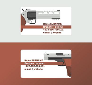 Pistols vector business card western gun cowboys retro revolver backdrop illustration wildlife cartoon wildwest sheriffs handgun background business-card