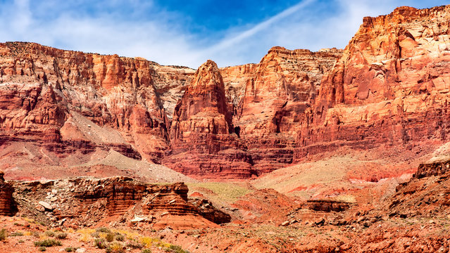Spectacular rock formations near Lees Ferry, Glen Canyon National Recreation Area, Arizona, USA.