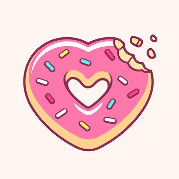 Heart shaped donut
