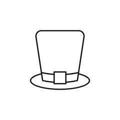 hat, pilgrim, Ireland, saint Patrick icon. Element of Ireland culture icon. Thin line icon for website design and development, app development. Premium icon