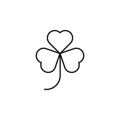 clover, leaf, saint Patrick, Ireland icon. Element of Ireland culture icon. Thin line icon for website design and development, app development. Premium icon