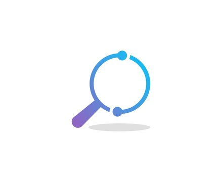 Magnifying glass logo