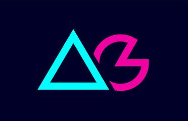 d76e1a166f5b blue pink colorful alphabet letter logo combination ag a g design