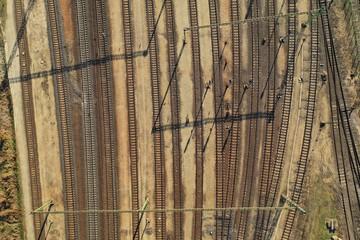 Industrial Railway Tracks Wall mural