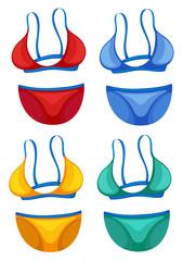 Set of bikini different colour