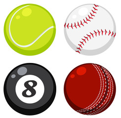 Set of different ball