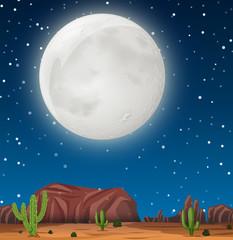 A night scene at desert