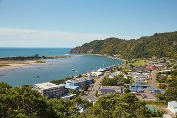 View of Whakatane in New Zealand