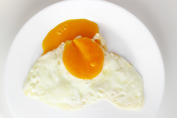 Fond de hotte en verre imprimé Ouf Egg background / chicken egg yolk is a major source of vitamins and minerals. It contains all of the egg's fat and cholesterol, and nearly half of the protein