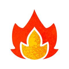 retro illustration style cartoon fire