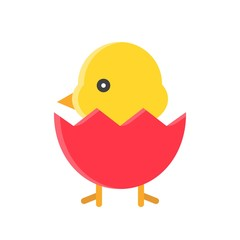 Chick vector, Isolated Spring season flat icon