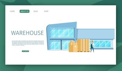 Modern Glass Working Warehouse Building Design