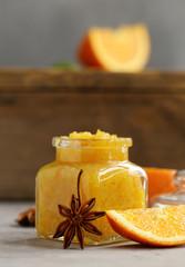 Homemade orange jam confiture for dessert