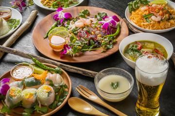 代表的なタイ料理 typical Thai cuisine