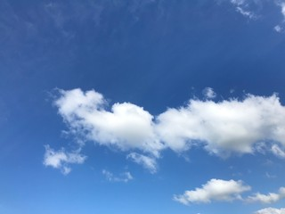 Cloudy sky on a bright day