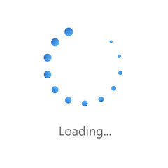 Loading icon. Loading process screen. Load bar for mobile and other app. Vector