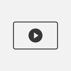 video streaming vector icon