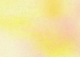 オレンジ色の水彩絵具イメージ背景素材-和紙テクスチャ