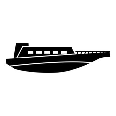 Boat icon trendy flat style isolated on white background. Vector illustration.- vector