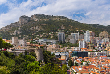 Cityscape of Monaco and Prince Palace