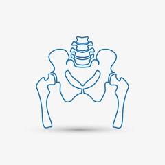 Hip bone icon.