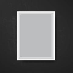 Black vintage photo frame. Vector.