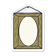 sticker of a picture frame
