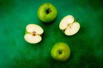 bio apfel grün
