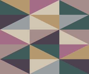 Abstract Rhombus Warm Colors Pattern